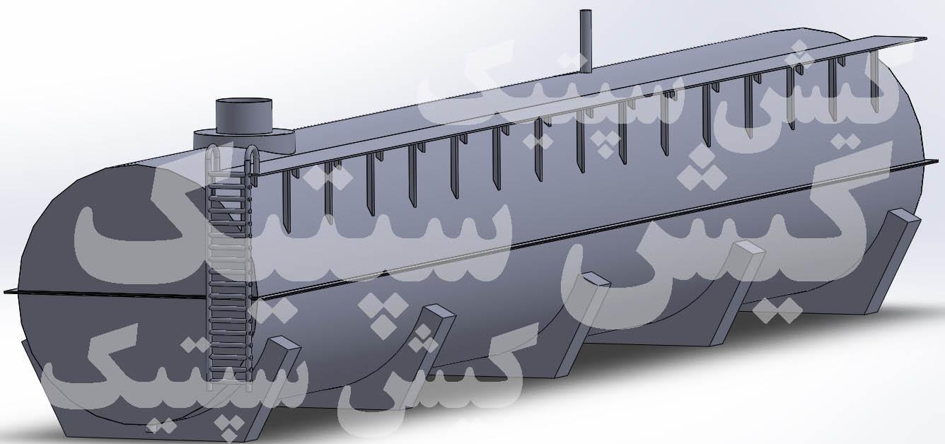 مخزن نگهداری اسید (ضد اسید) از جنس پلی اتیلن HDPE کاور شده با ورق فلزی برای تانکرهای حمل اسید