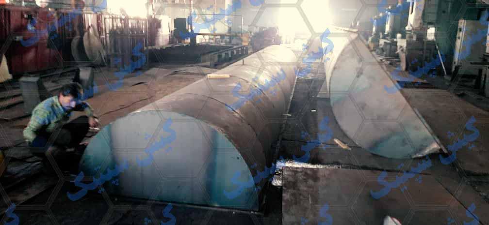 خرید مخزن پلی اتیلن نگهداری اسید با کاور فلزی